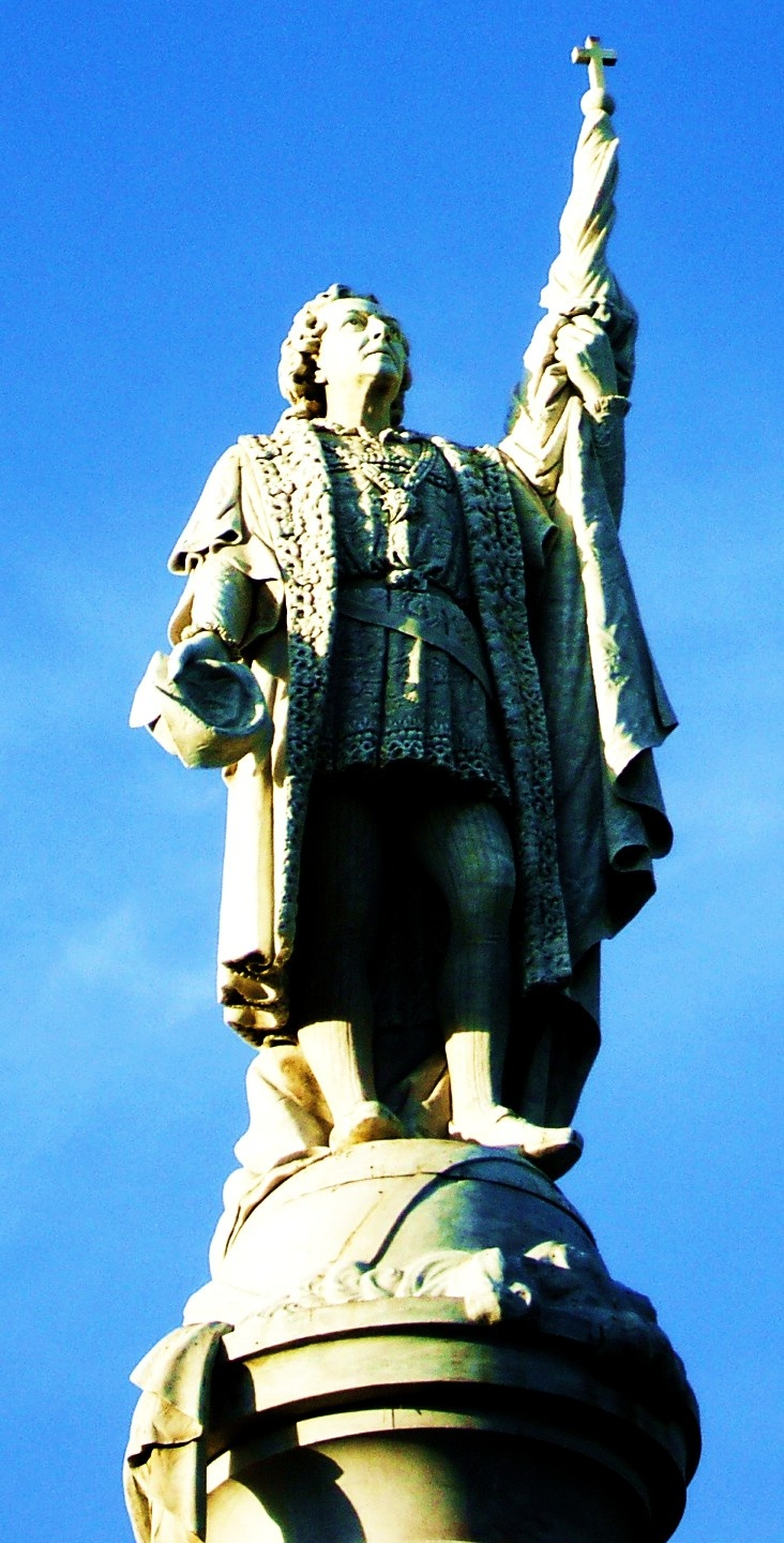 Christopher Columbus Statue in the Center of Puerto Rico...