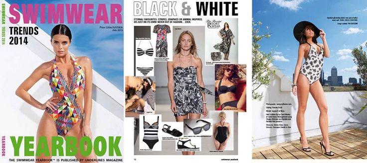 Pia Rossini in the SWIMWEAR YEARBOOK - On trend Monochrome #resortwear #beachwear #SS14 #PiaRossini
