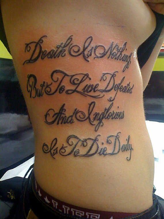 Best 20+ Rib tattoo script ideas on Pinterest | Thigh script ...
