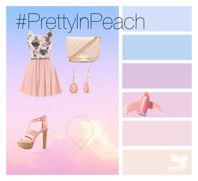 """Everythings just peachy."" by simone-kelly-coad-lutwyche ❤ liked on Polyvore featuring Charlotte Russe, Forever 21, Vintage America, Kendra Scott and Elizabeth Arden"