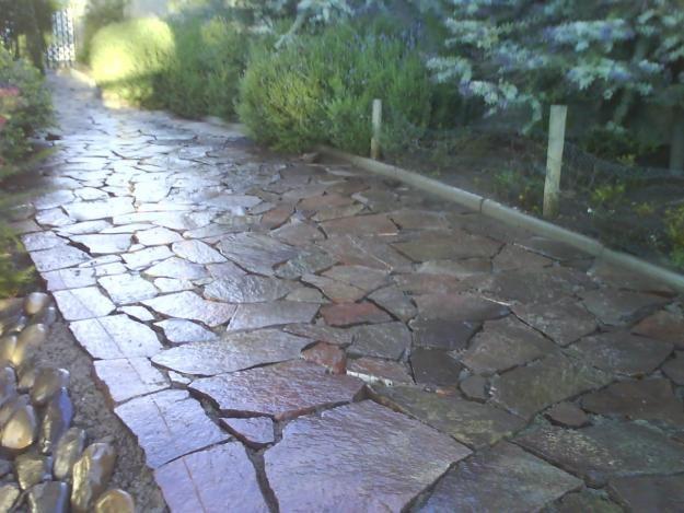 Piedra laja buscar con google ideas para el jardin for Piedras negras para jardin