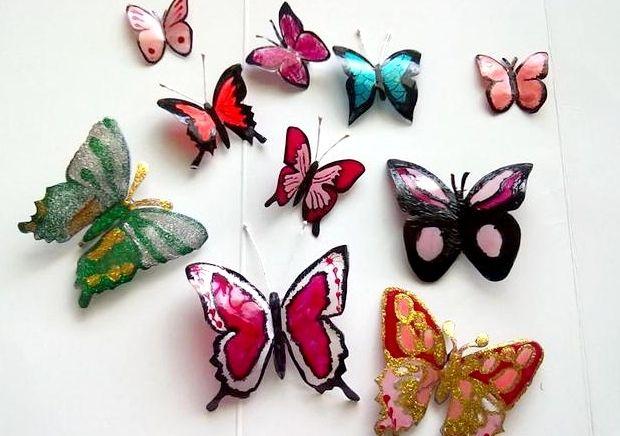 Бабочка из пластиковой бутылки картинки
