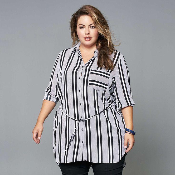 Robe chemise en voile crêpé Grande taille femme - Kiabi - 25,00€