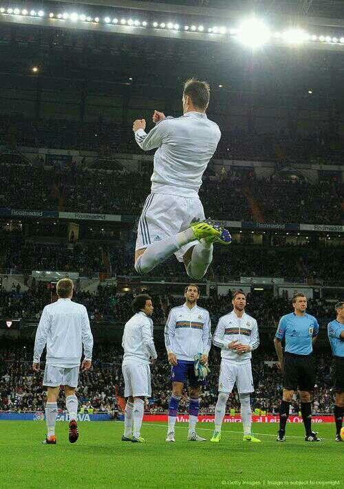 Gareth Bale. my best man im happy his apart of UNITED KINGDOM!