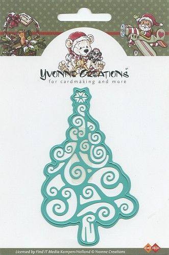 Yvonne Creations Christmas Tree (cut and emboss)