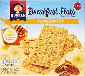 $1.00 off 2 Boxes of Quaker Breakfast Flats or Breakfast Squares Coupon on http://hunt4freebies.com/coupons