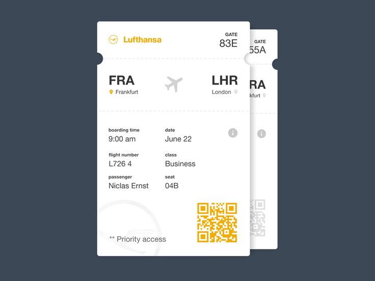 Boarding Pass - by Niclas Ernst | #ui