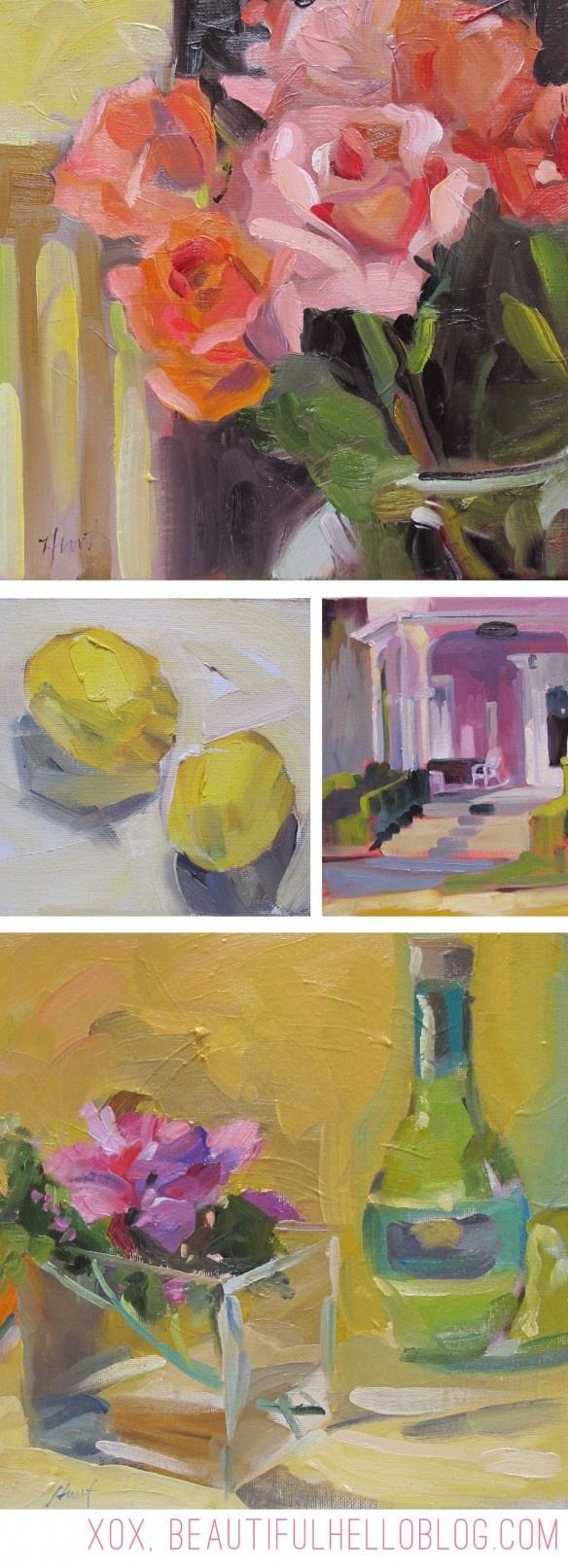 Linda Hunt, Alla Prima Oil Paintings (the art of painting very fast + very well)