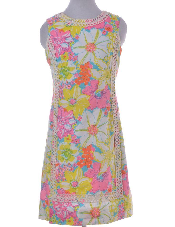 Vintage Vintage Day Dress Multi-colour With Decorative Trim | Beyond Retro