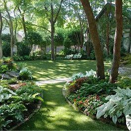 Shaded Backyard Ideas garden ideas near tall trees grass in the deep shade and competitive Beautiful Shady Yard