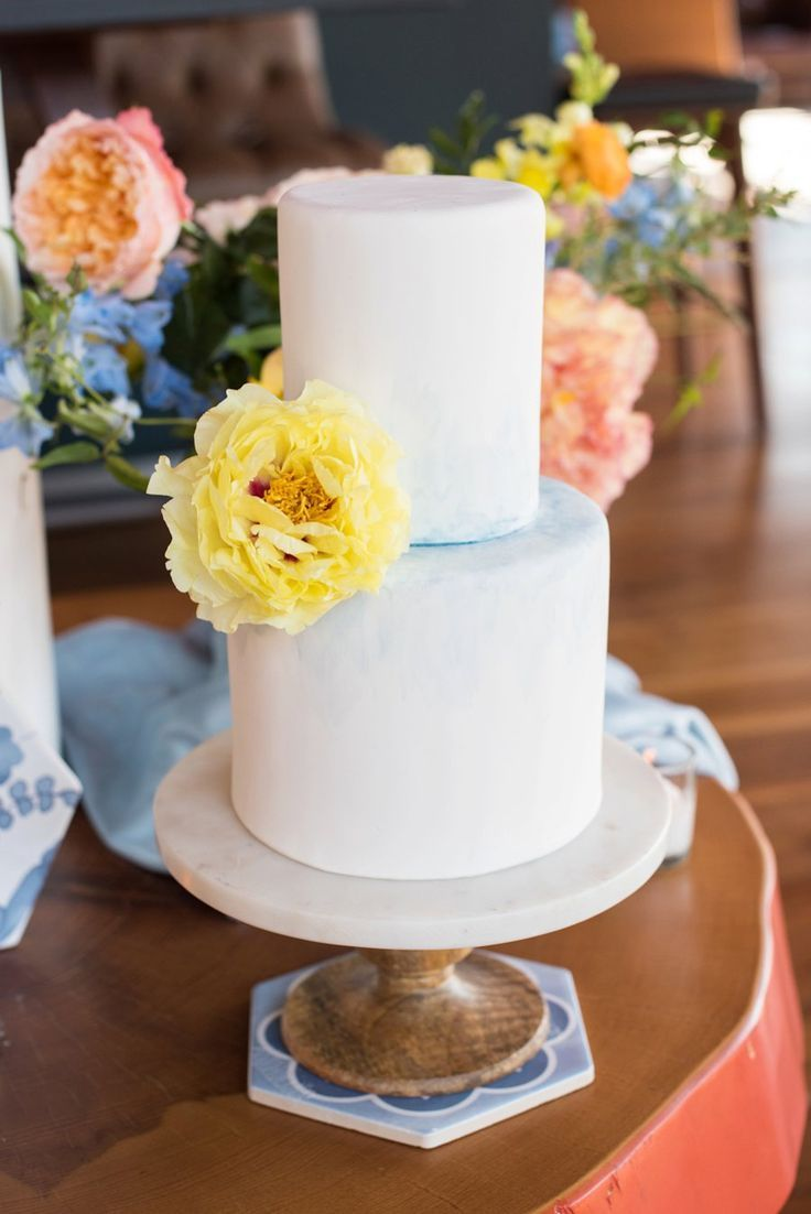 Colorful Blue & Yellow Eclectic North Carolina Wedding Ideas
