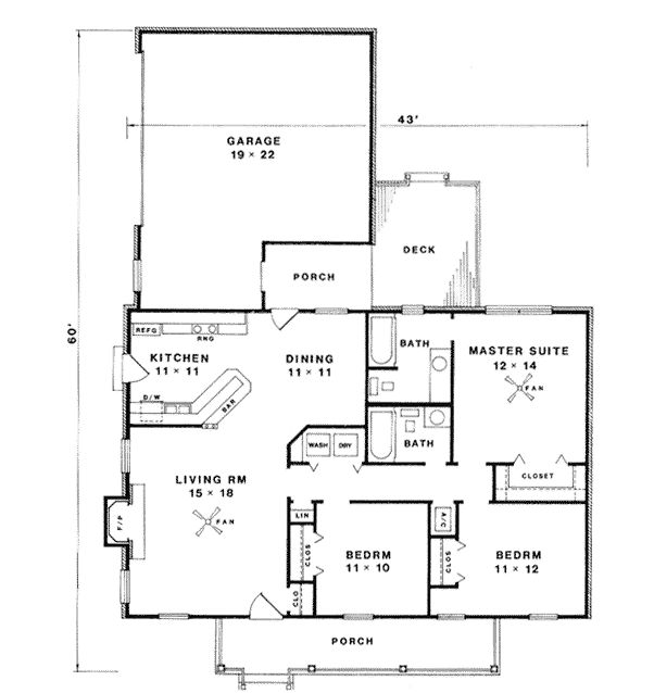 1247 Square Foot House Plan Chp 2274 At COOLhouseplans.com