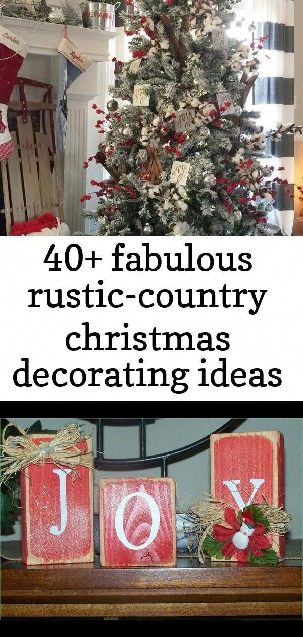 40 Fabulous Rustic Country Christmas Decorating Ideas Awesome Adorable Wo Outdoor Christmas Tree Decorations Christmas Centerpieces Diy Outdoor Christmas Tree