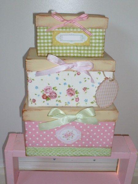 boites rose & celadon pour toilettes