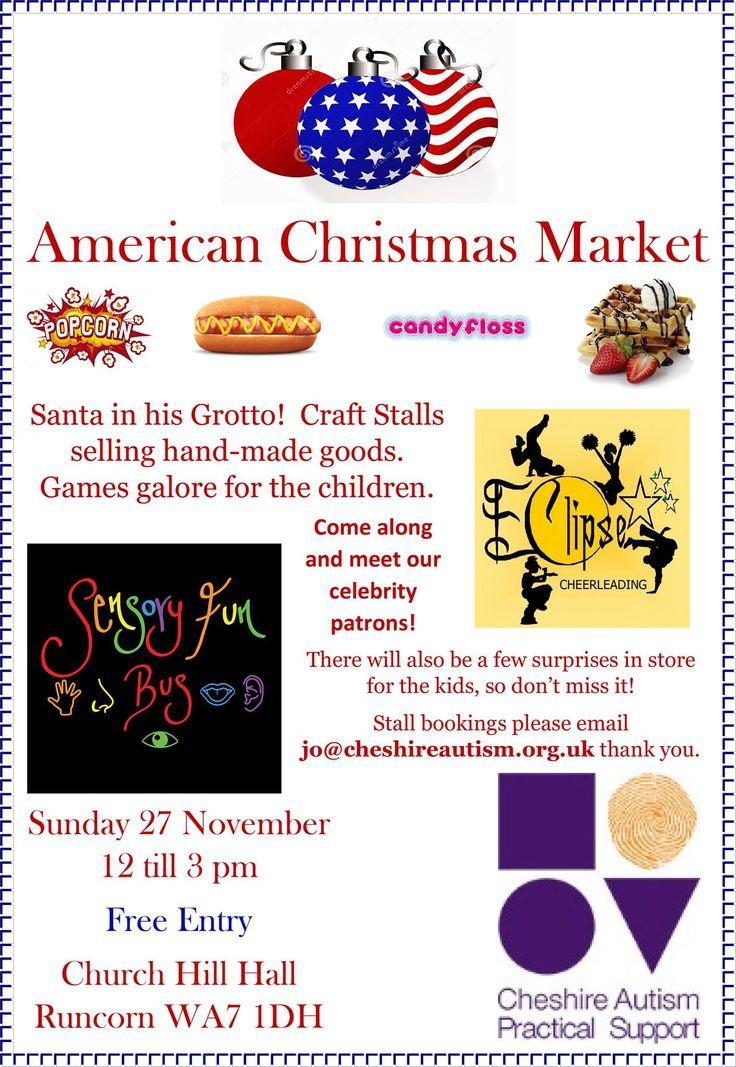#Cheshire #Autism Support #Christmas Market 27th November #Runcorn