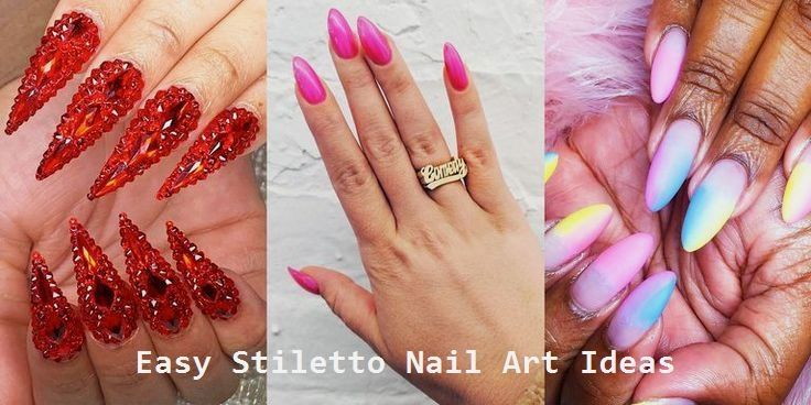 30 Great Stiletto Nail Art Design Ideas #nailart nageldesign schlicht