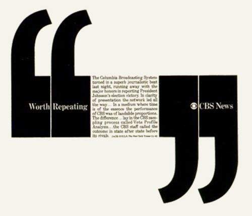 Worth repeating. CBS News: Herb Lubalin