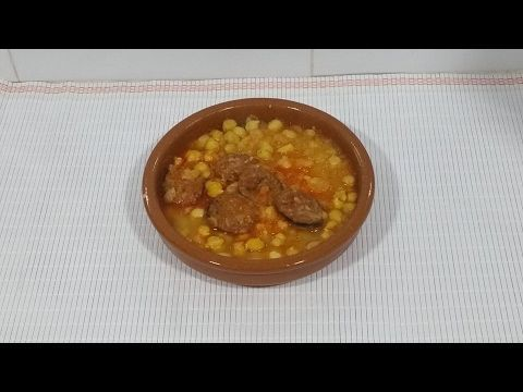 Garbanzos con chorizo en monsieur cuisine plus - YouTube