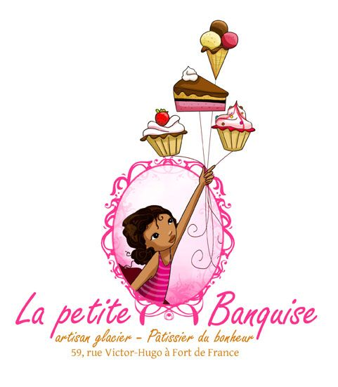 Laure Phelipon - Logo with a pastry