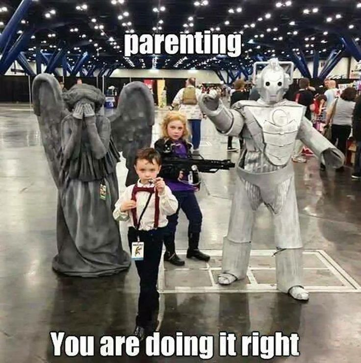 Mini Doctor Who gang