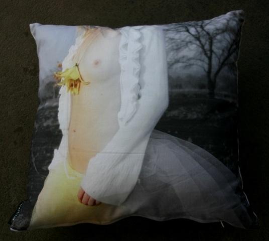 Tiger Lily cushion.