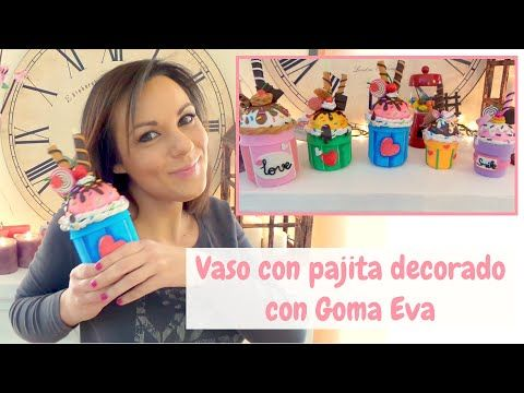 369 best goma eva images on pinterest jelly beans foam - Tarro con pajita ...