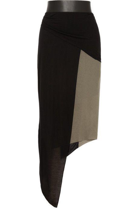 Helmut Lang asymmetric jersey skirt #DesignerSpotlight #HelmutLang