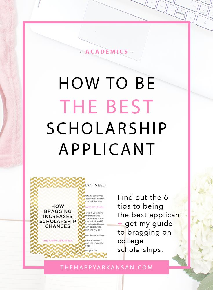 How To Be The Best Scholarship Applicant | Click through for the 6 best tips for being a better scholarship applicant. These tips cover everything from being passionate in your applications to turning your applications in on time. Are you applying for scholarships? You need to read this post.