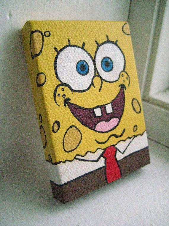 Painted SpongeBob Magnet on Etsy, $7.00