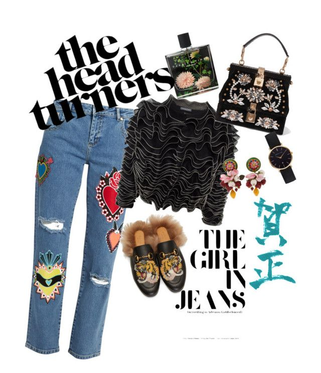 the jeans that makes head turns by sparklypupil on Polyvore featuring polyvore fashion style Alexander McQueen House of Holland Gucci Dolce&Gabbana Abbott Lyon Nest Fragrances clothing