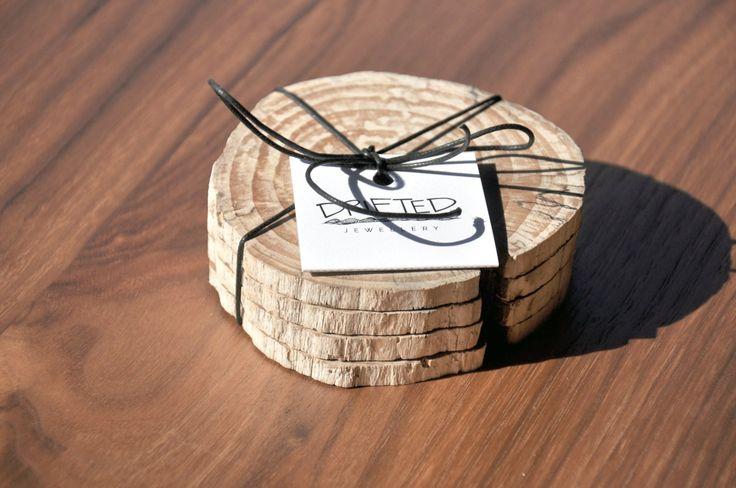West Coasters - Driftwood Coaster - Natural Style - Wood Slice