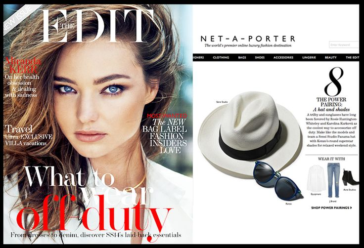 Panama Hat at The Edit #Netaporter #sensistudio