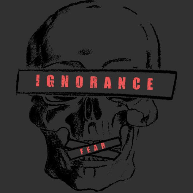 self-censorship is a T Shirt designed by andreiserac to illustrate your life and is available at Design By Humans #skull #censorship #ignorance #activism #oldschool #vintage