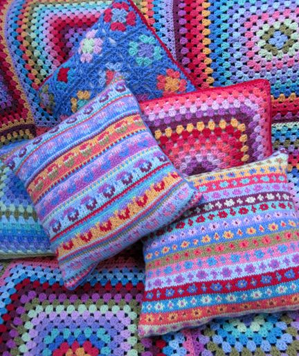 Beautiful cushions - love the colours
