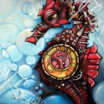 Steampunk seahorse by Grant Searcy