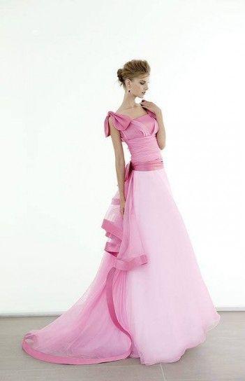 Elisabetta Polignano abito da sposa in due tonalità di rosa  http://elisabettapolignano.com/