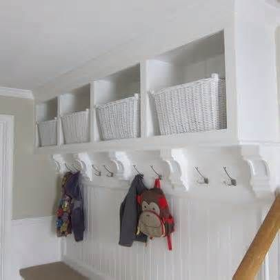 built in coat rack bench closet