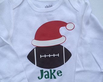 Baby boy Toddler Boy Christmas outft -Football outfit - toddler boy christmas - baby boy christmas outfit - holiday outfit