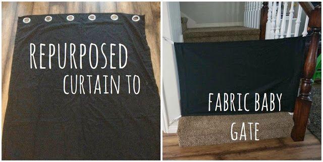 DIY fabric baby gate