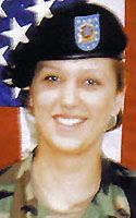 Army Spc. Jessica L. Cawvey Died October 6, 2004 Serving During Operation Iraqi Freedom 21, of Normal, Ill.; assigned to the 1544th Transportation Company, Illinois Army National Guard, Paris, Ill.; killed Oct. 6 when an improvised explosive device detonated near her convoy vehicle in Fallujah, Iraq.