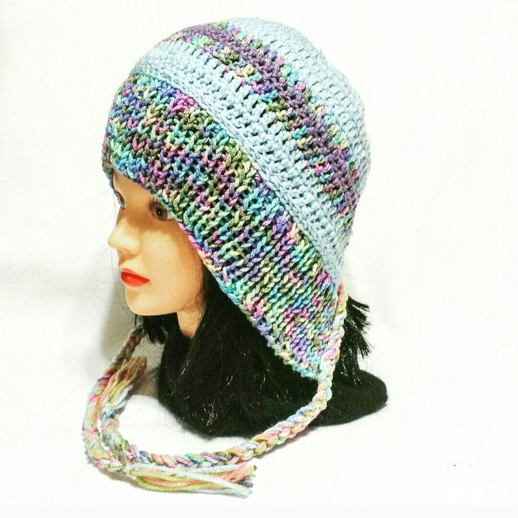 My new earflap hat design now coming in different colors.
