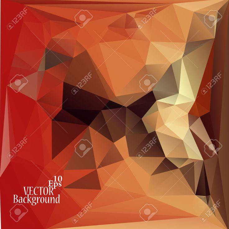 Multicolor (rojo, Marrón, Amarillo) Plantillas De Diseño. Fondo Geométrico Triangular Abstracta Moderna Del Vector. Ilustraciones Vectoriales, Clip Art Vectorizado Libre De Derechos. Pic 32719946.