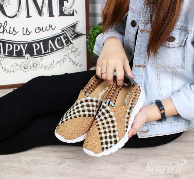Sepatu Scarlett Luxury Slip On S50265 Branded 2018 (1)  bbeca553df
