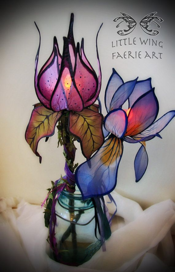 Magic Thistle Lighted Faerie Wand by littlewingfaerieart on Etsy, $60.00