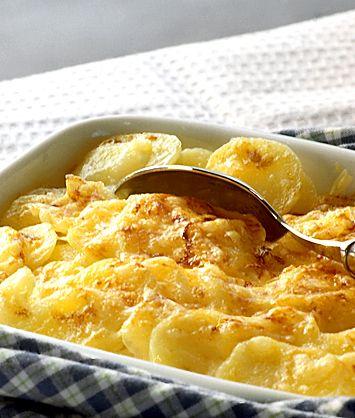 Potatisgratäng med mjölkkokt potatis | Recept.nu