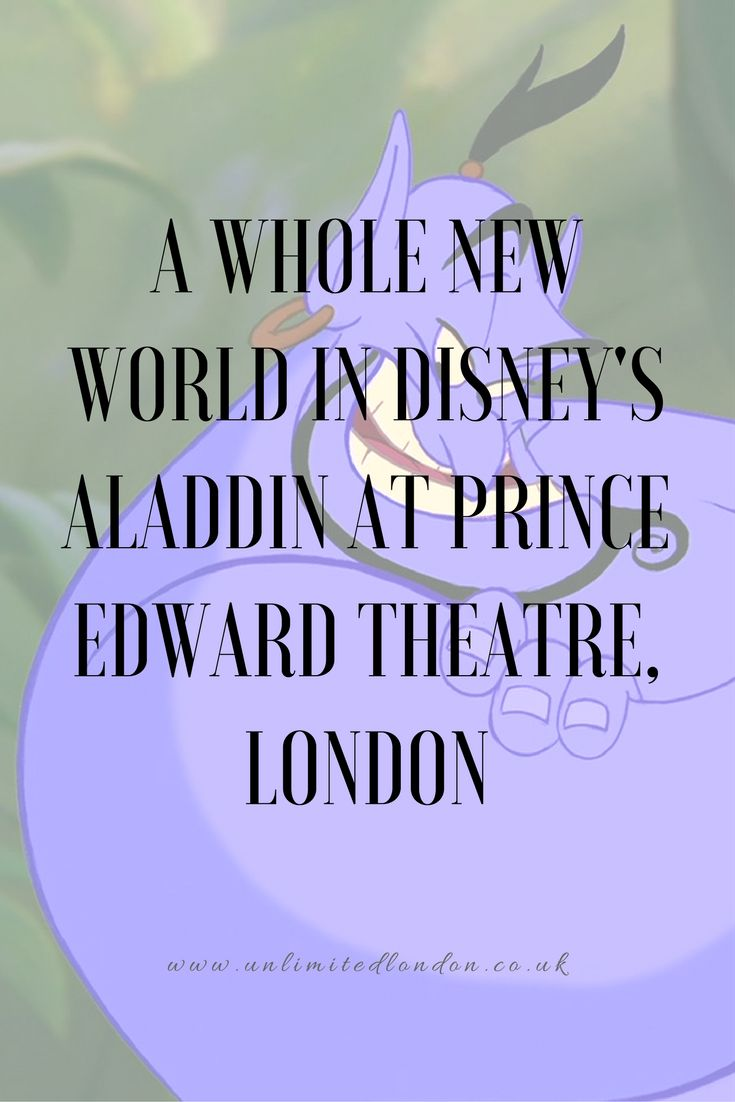 With Guy Ritchie busy trying to find the perfect actor to play Aladdin in his new movie, which promises to give a fresh look on the 1992 animated classic, I thought it was a good time to write my review on the Aladdin musical at the Prince Edward Theatre, London.  Read more...