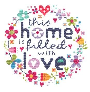 Filled with Love Cross Stitch