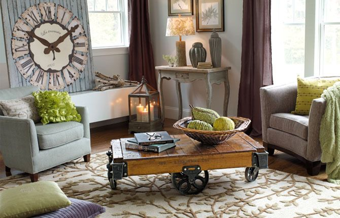 love this cozy sitting room: Big Clocks, Coffee Tables, Living Rooms, Decor Ideas, Color Schemes, Memorial Tables, House, Homegood, Home Good
