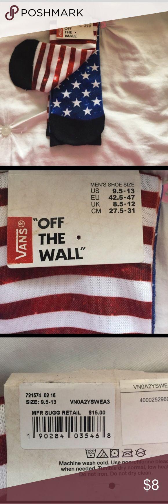 Vans American Flag Socks Vans American Flag Socks Vans Underwear & Socks Casual Socks