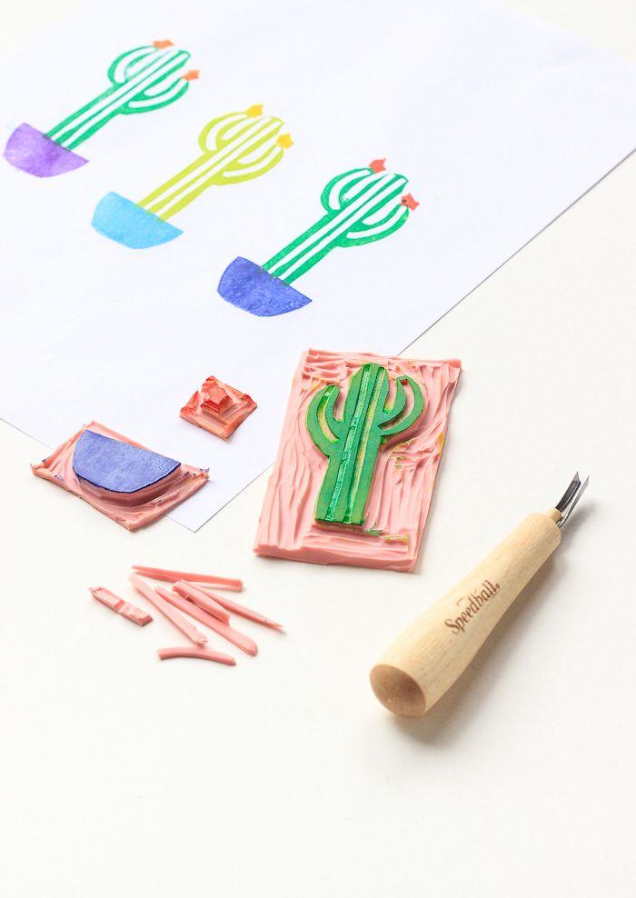 DIY: cactus stamp